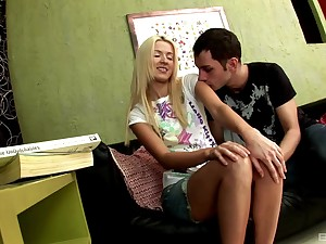 Naughty Russian teen babe Snug harbor a comfortable gets her tight asshole stretched