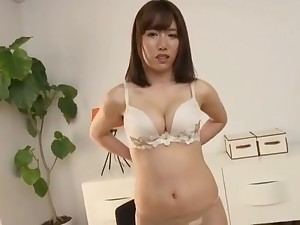Hot Super Attracting & Medium Breasted Jap Woman, Goes Fully Naked!