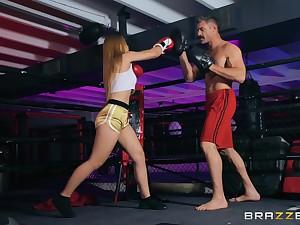 Prizefighting babe Sloan Harper pounded hardcore round dramatize expunge ring