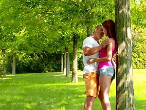 Fervent intercourse in the parkland with yummy awl girlfriend Nikki Fox