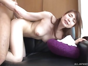 Japanese long haired beauty in small tits Hasegawa Rui fucked doggy