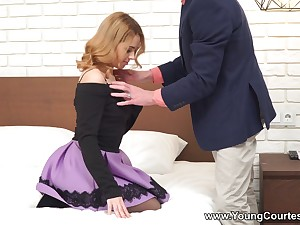 Naughty Russian ecumenical Karry Rendezvous is having dirty sex with her ex for declaratory