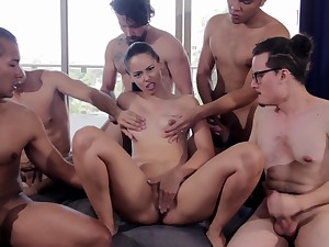 Amaranta Hank's Unsound Gangbang Chapter At The Casting