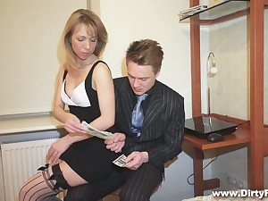 Nice blond student alongside puffed up pussy Felicia C gets fucked for money