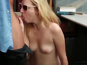 Prevention Officer Cuffs &amp_ Fucks Blonde Thief