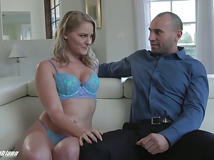 Blonde less plump botheration Lisey Sweet gets facial after a crazy pussy pounding chapter