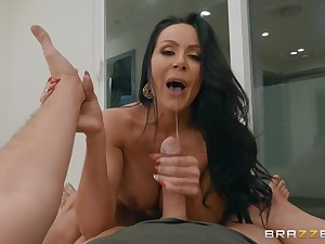 MILF Kendra Lust blackmailed into sucking a broad dick