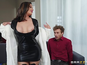 Asian bugger up MILF in boots Kaylani Lei gets a huge facial