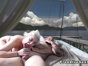 Hot Blonde Teen Fucked by Pervert Old Guy
