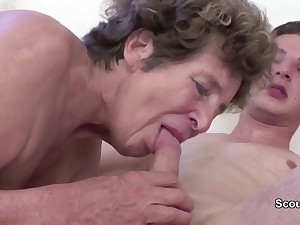 Granny Seduce Young Cutie Girl Boy to Attempt Coition her in her AssHole