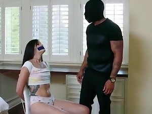 Full of life Tits Teen Eden Sin Dped Unconnected with Two Nympho Sulky Burglars