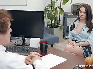 Ashly Anderson adores having good sex with her horny boss in an obstacle designation