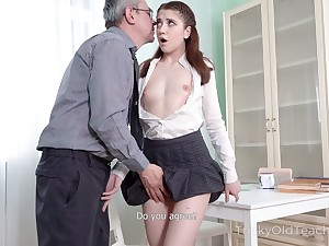 Nice sophomore student Alita Angel loses anal virginity with superannuated teacher
