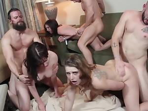 Fallon West Group Hardcore Orgasms