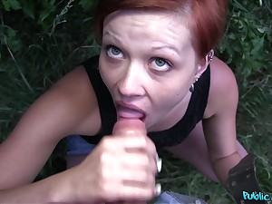 Stranger Lucie Dicas offered money just about be fucked in fake of the camera