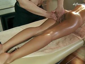 Libidinous virgin Masha Roofkina gets say no to pussy massaged and fully satisfied