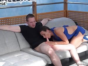 New porn challenge wits seductive Czech porn lead actor Mea Melone