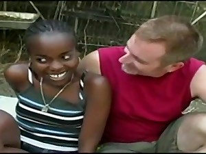 Cute Ebony 18Yo Marcella Carioca Nailed Unconnected with A White Guy