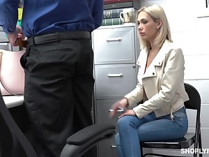 Guilty auburn slender bitch Sky Pierce is hammered unconnected with cop from behind