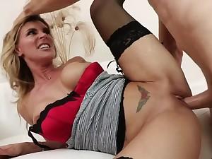 Big tits MILF hardcore in stockings